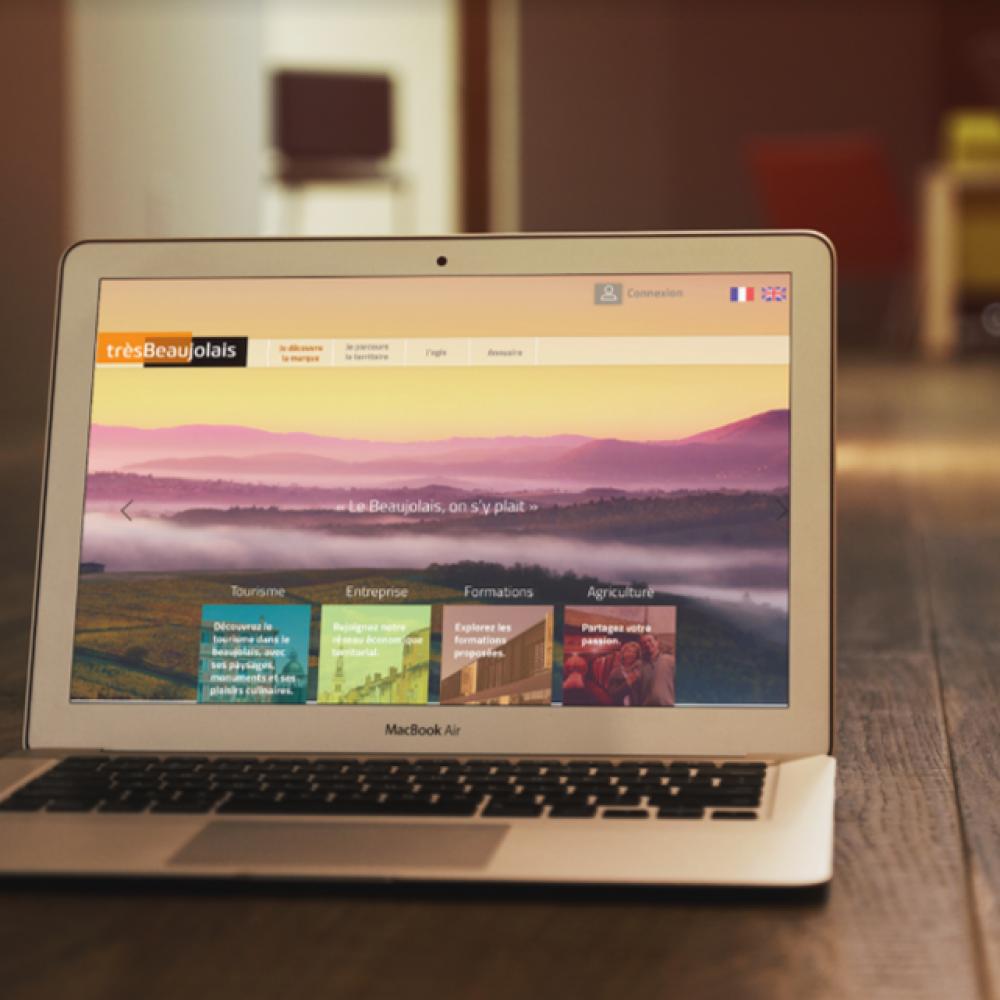 Webdesign site internet Très Beaujolais